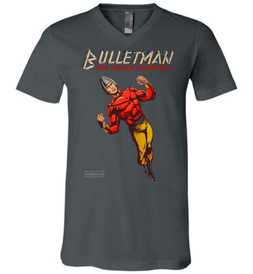 Bulletman Reimagined V-Neck (Unisex, Dark Colors)