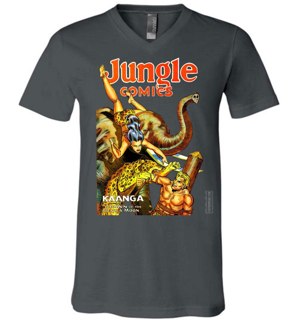 Jungle Comics No.145 V-Neck (Unisex, Dark Colors)