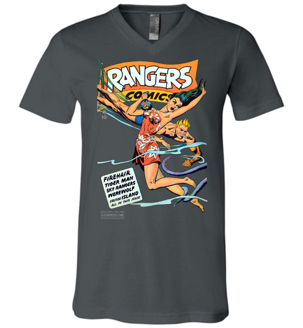 Rangers Comics No.39 V-Neck (Unisex, Dark Colors)