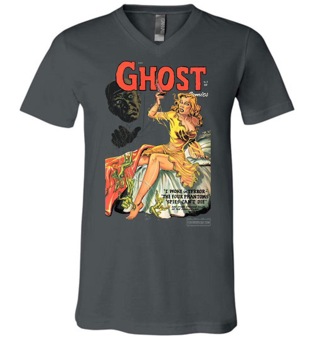 Ghost Comics No.2 V-Neck (Unisex, Dark Colors)
