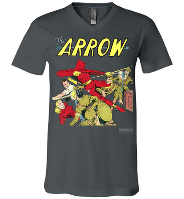 The Arrow No.3 V-Neck (Unisex, Dark Colors)