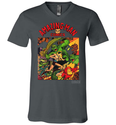 Amazing-Man Comics No.22 V-Neck (Unisex, Dark Colors)