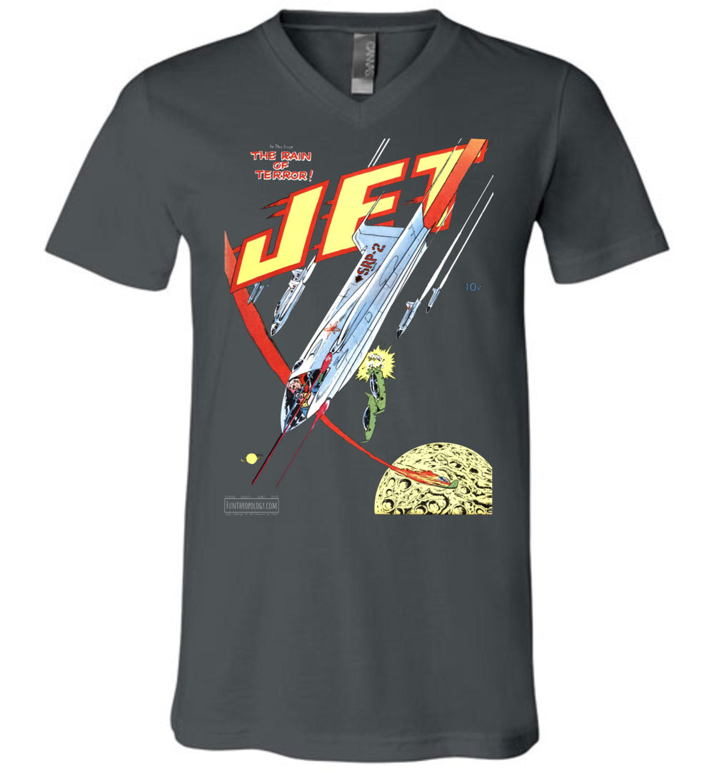Jet Powers No.4 V-Neck (Unisex, Dark Colors)