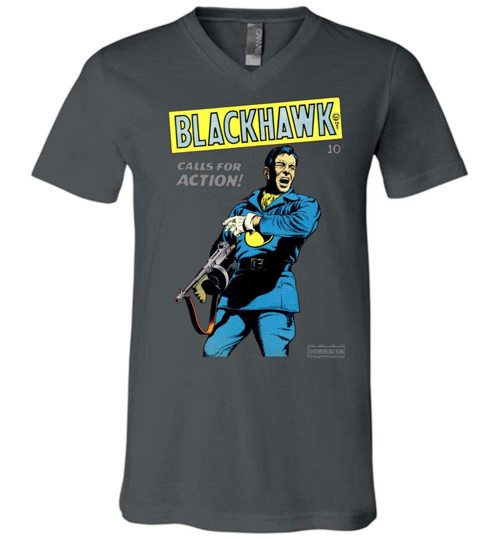 Blackhawk No.19 V-Neck (Unisex, Dark Colors)