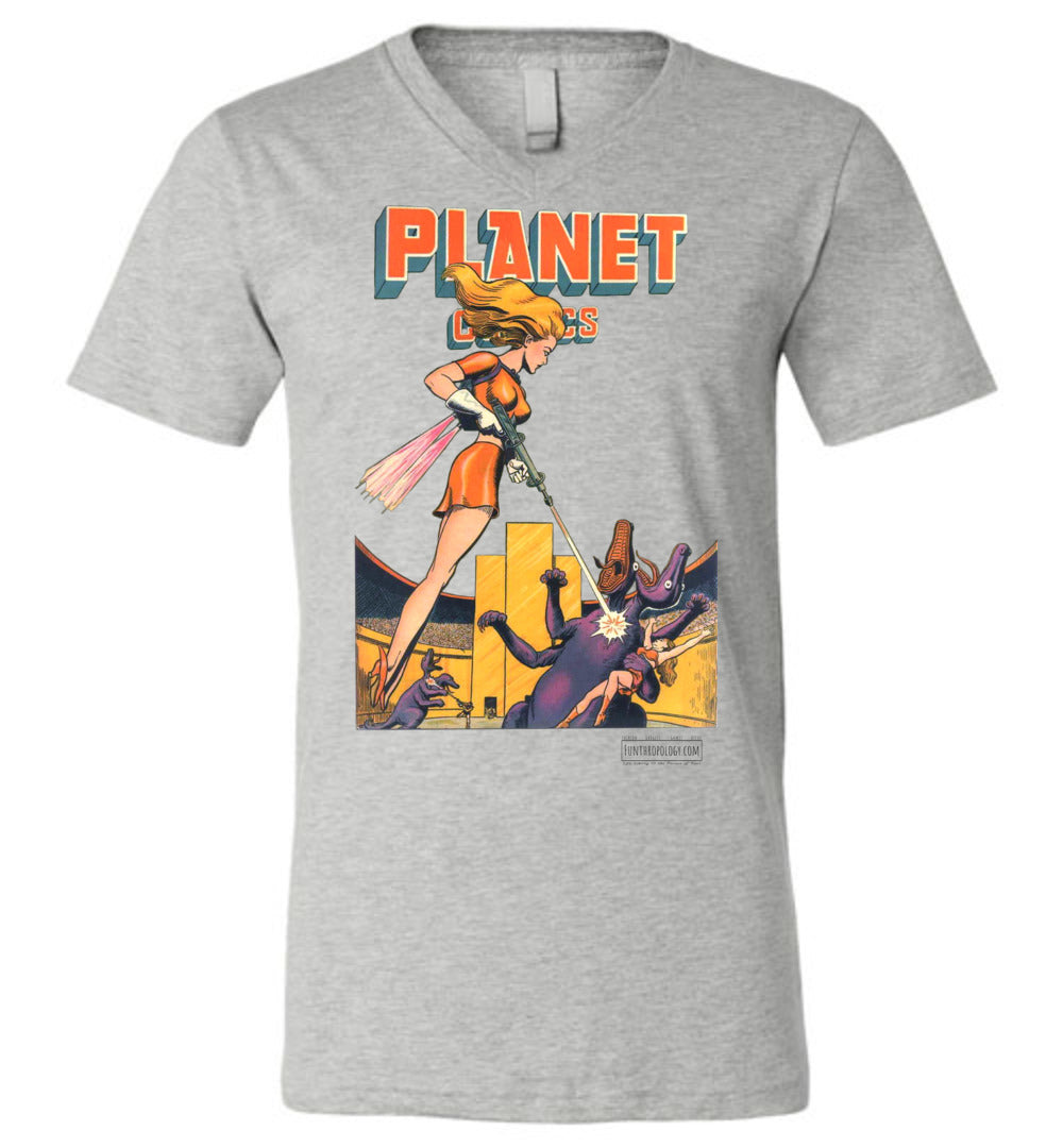 Planet Comics No.38 V-Neck (Unisex, Light Colors)
