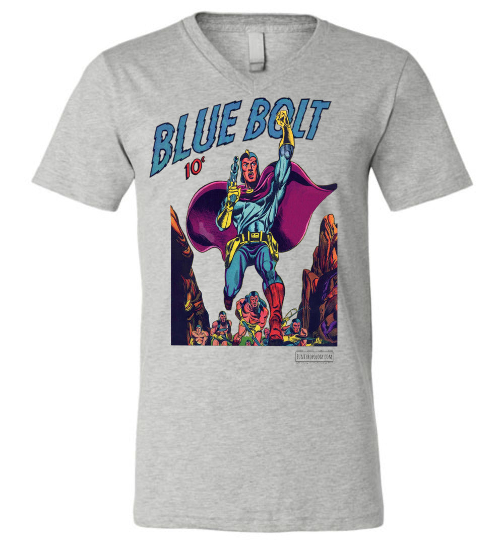 Blue Bolt No.3 V-Neck (Unisex, Light Colors)