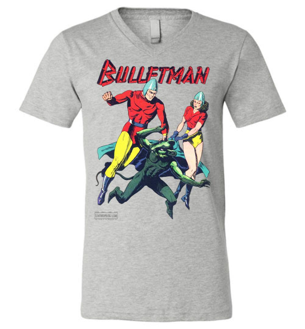 Bulletman No.7 V-Neck (Unisex, Light Colors)