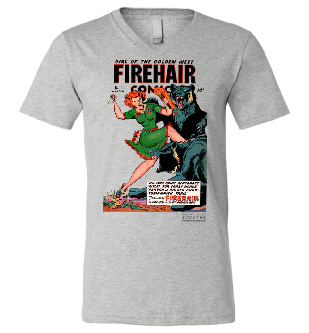 Firehair Comics No.1 V-Neck (Unisex, Light Colors)