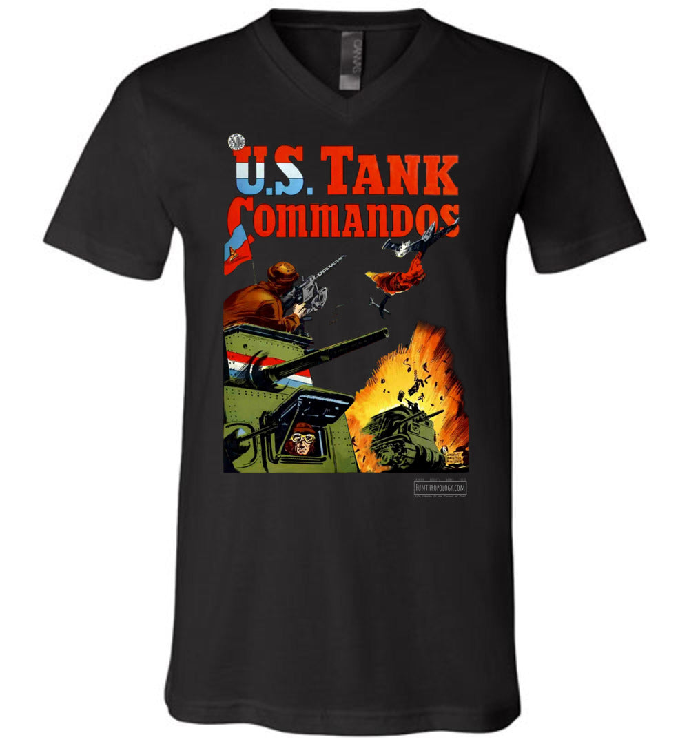 US Tank Commandos No.1 V-Neck (Unisex, Dark Colors)