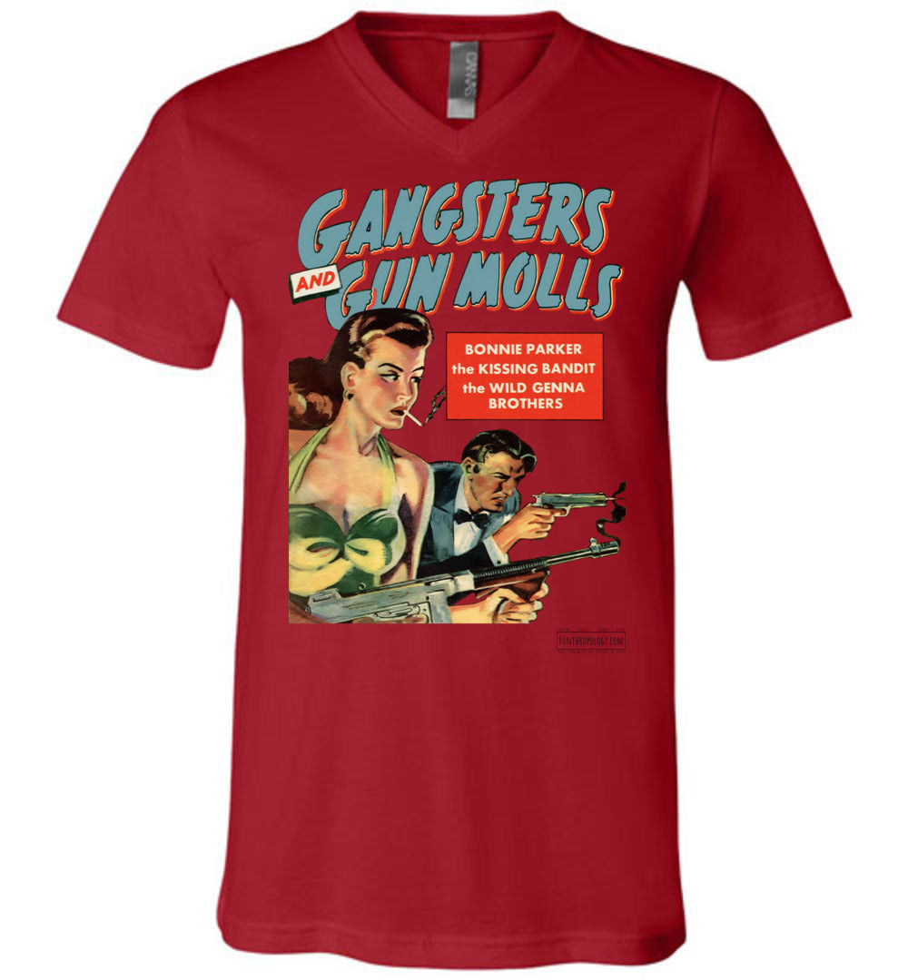 Gangsters And Gunmolls No.2 V-Neck (Unisex, Light Colors)