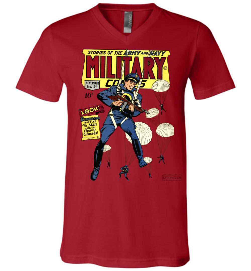 Military Comics No.24 V-Neck (Unisex, Light Colors)