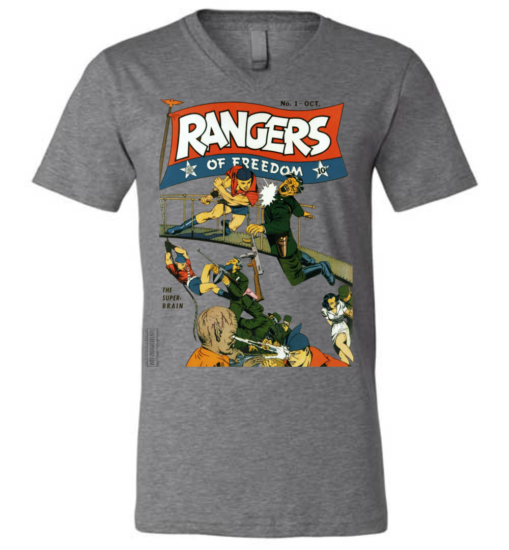 Rangers Comics No.1 V-Neck (Unisex, Light Colors)