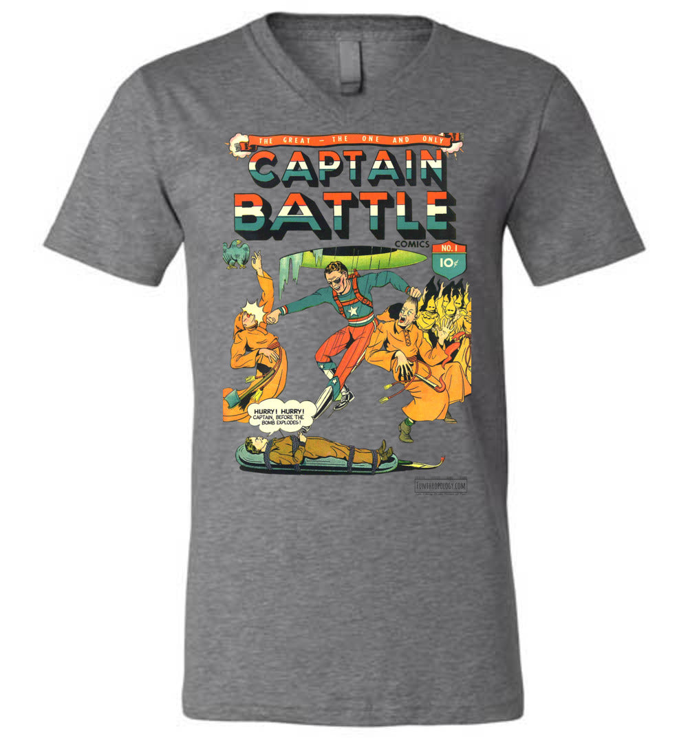 Captain Battle No.1 V-Neck (Unisex, Light Colors)