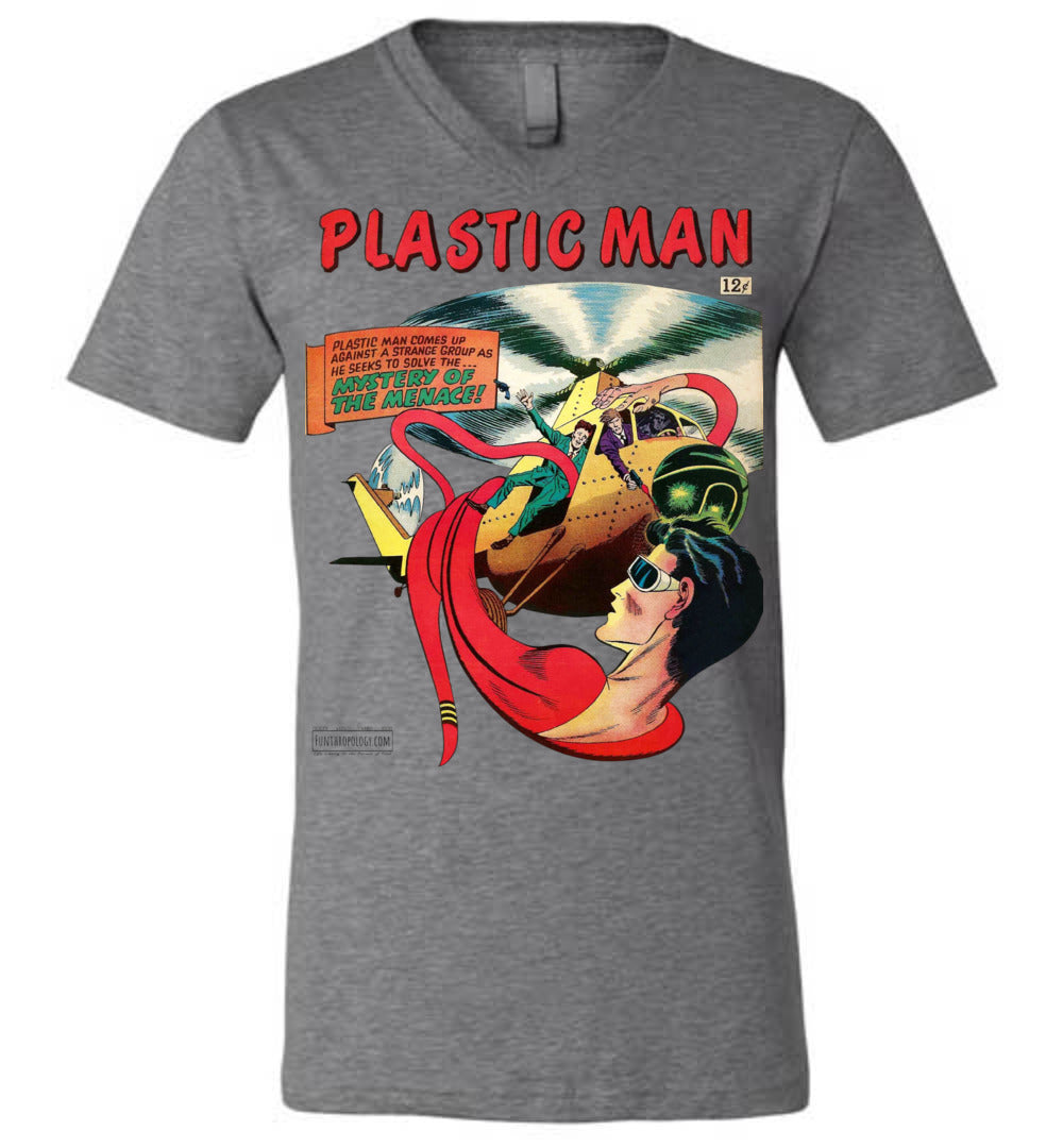 Plastic Man No.11 V-Neck (Unisex, Light Colors)