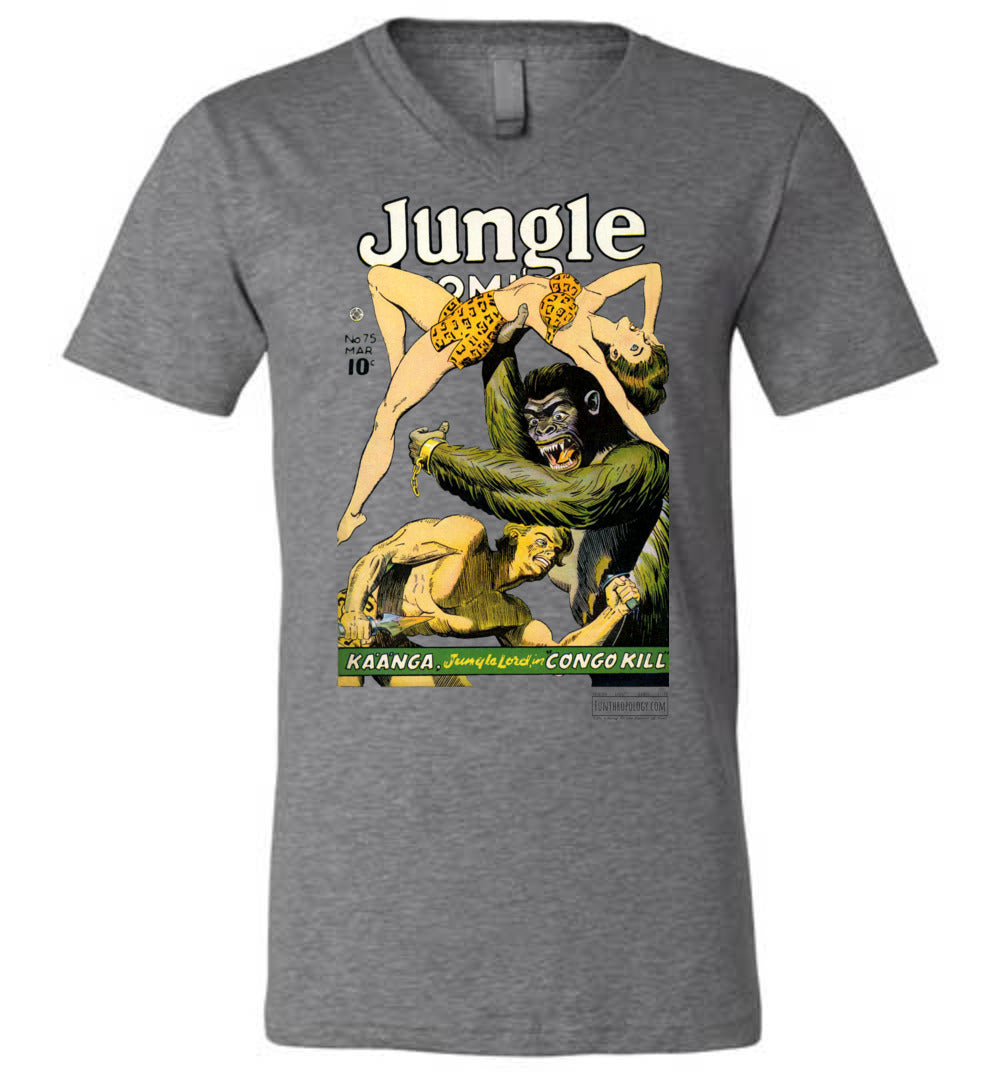 Jungle Comics No.75 V-Neck (Unisex, Light Colors)