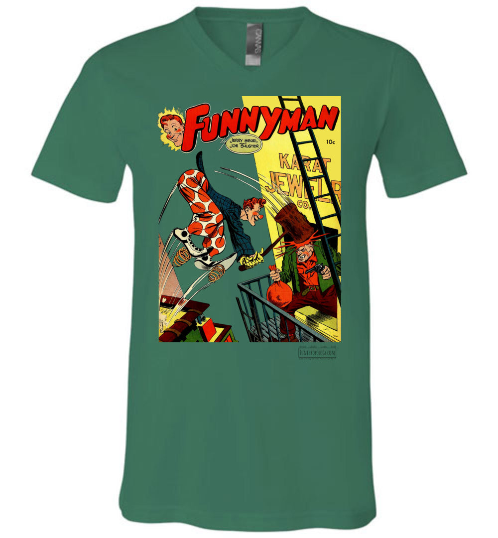 Funnyman No.3 V-Neck (Unisex, Light Colors)