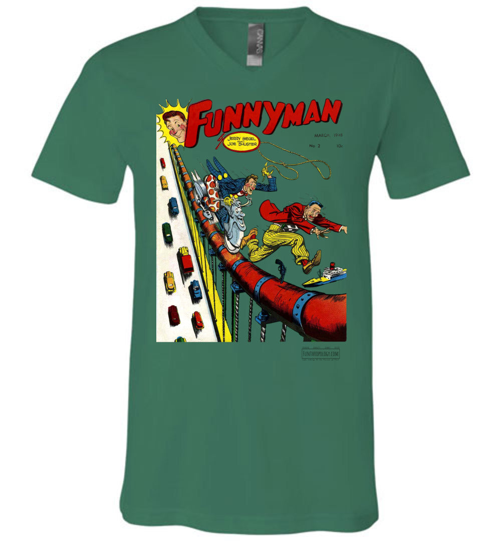 Funnyman No.2 V-Neck (Unisex, Light Colors)