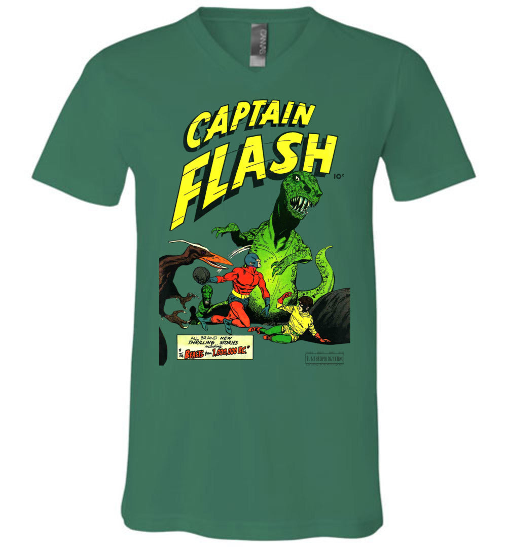 Captain Flash No.3 V-Neck (Unisex, Light Colors)