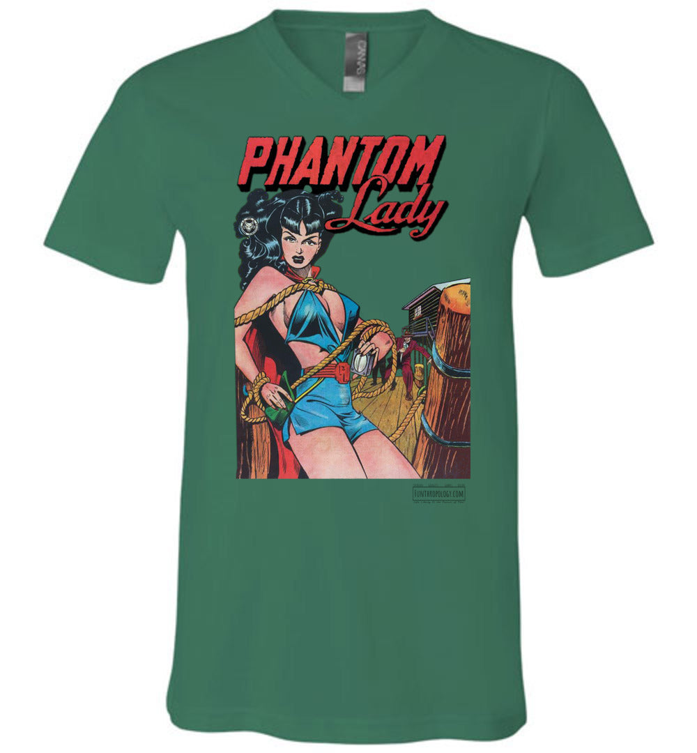 Phantom Lady No.17 V-Neck (Unisex, Light Colors)