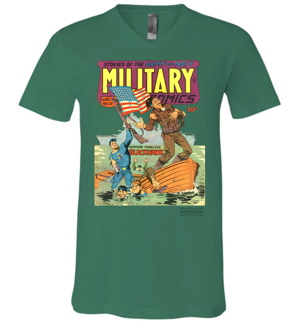 Military Comics No.11 V-Neck (Unisex, Light Colors)