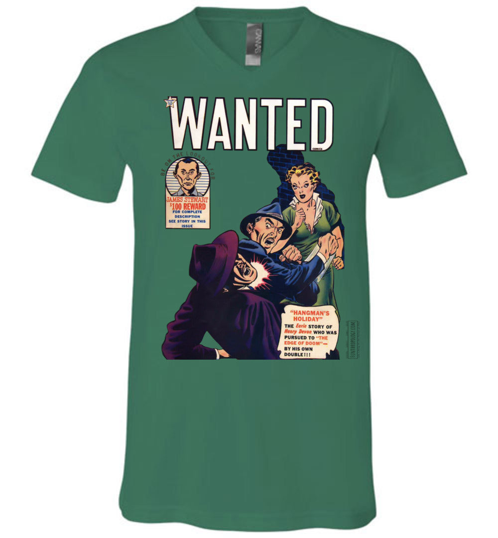 Wanted Comics No.29 V-Neck (Unisex, Light Colors)