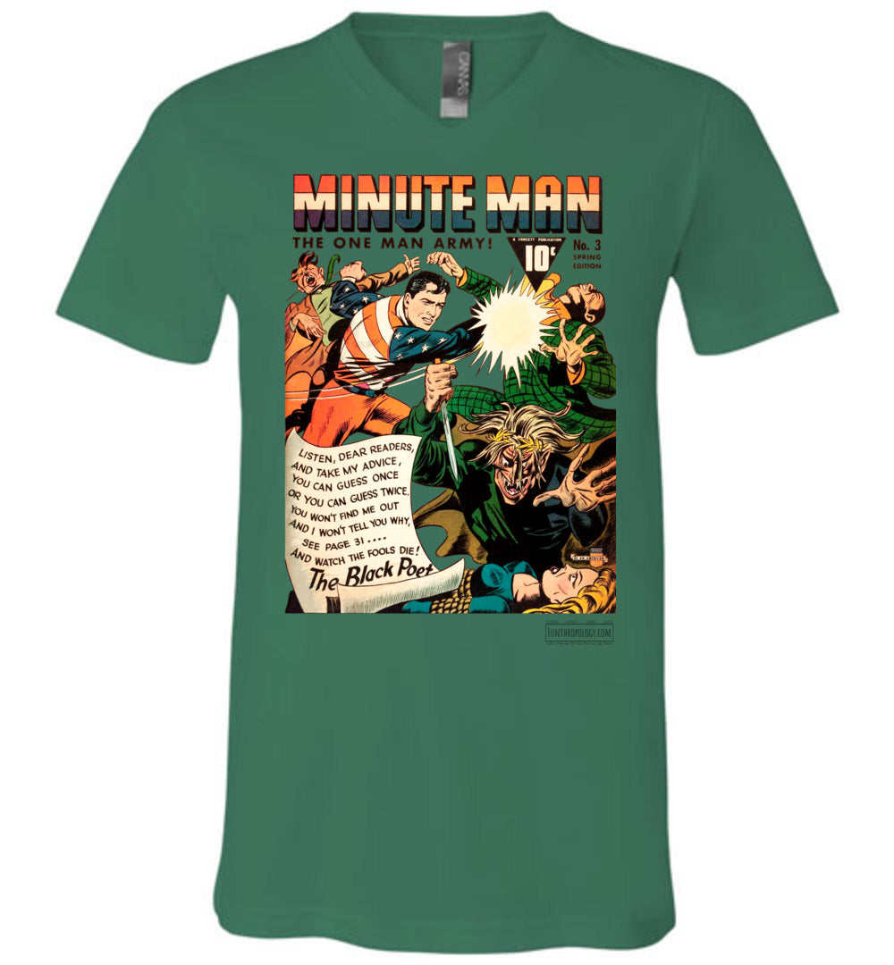 Minute Man No.3 V-Neck (Unisex, Light Colors)