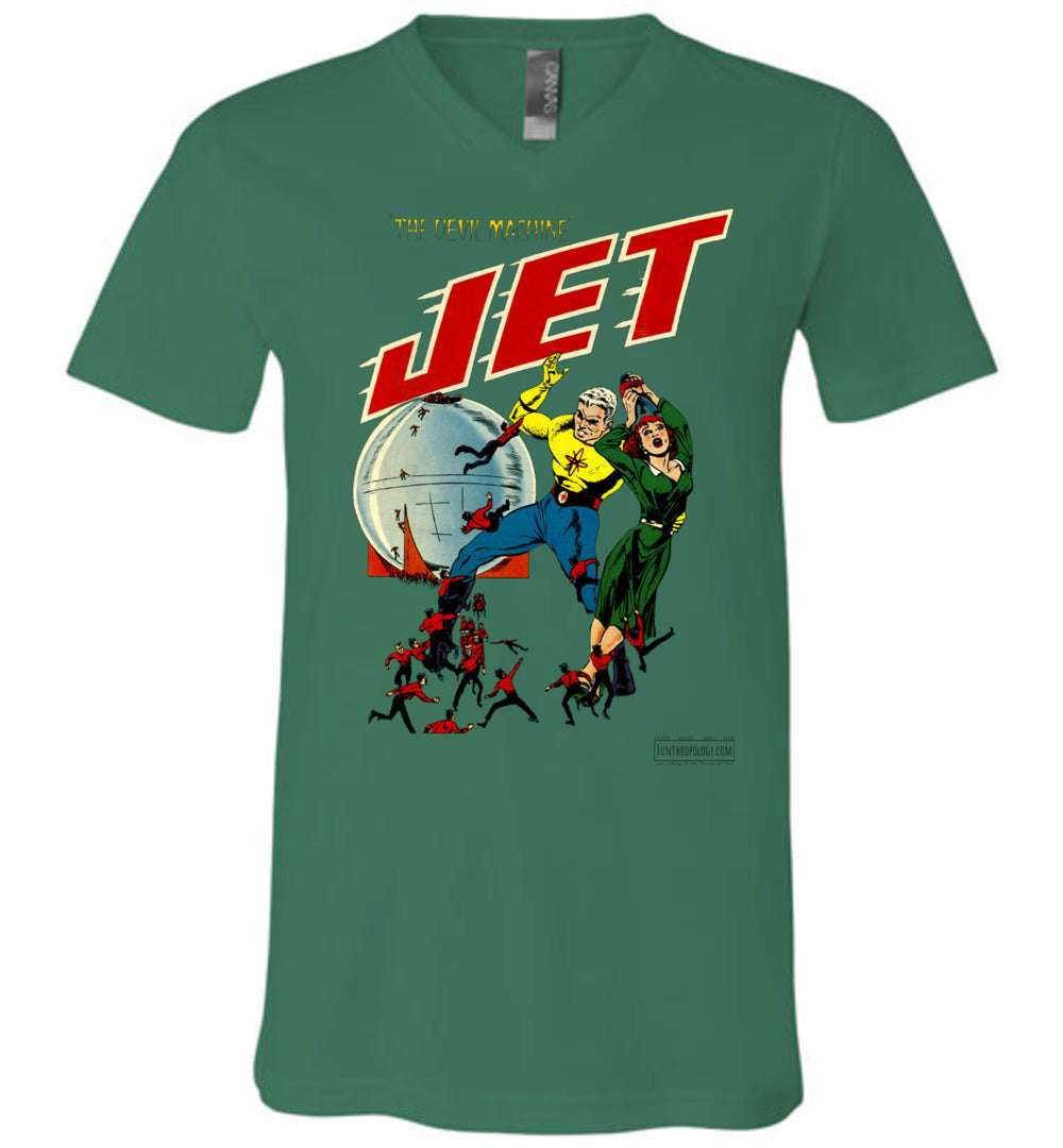 Jet Powers No.3 V-Neck (Unisex, Light Colors)