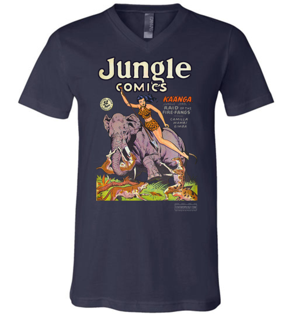 Jungle Comics No.110 V-Neck (Unisex, Dark Colors)