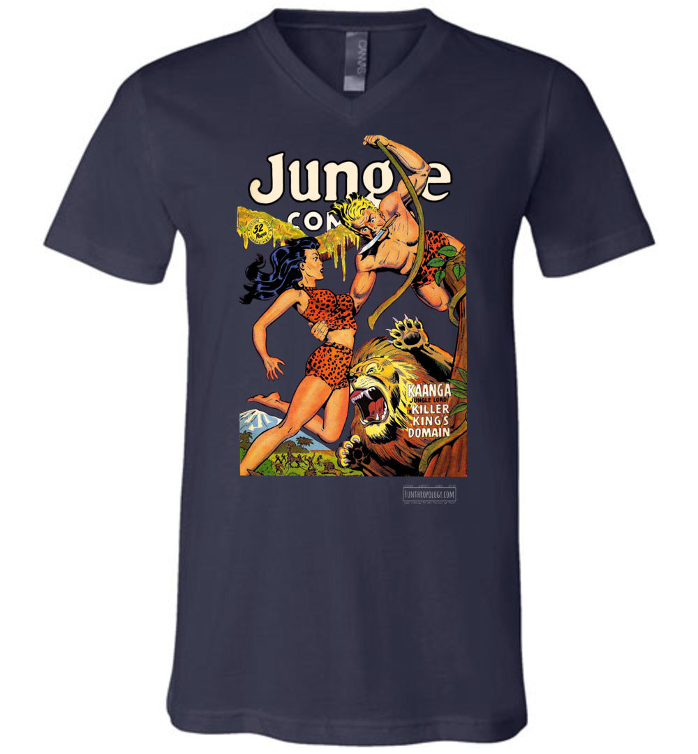 Jungle Comics No.120 V-Neck (Unisex, Dark Colors)