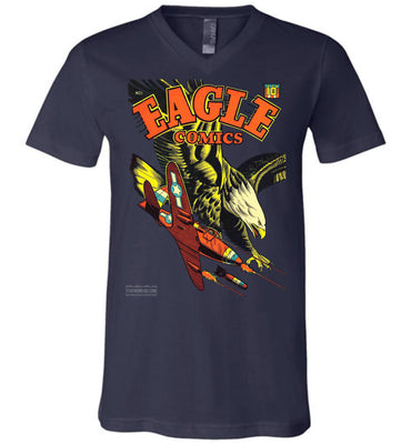Eagle Comics No.1 V-Neck (Unisex, Dark Colors)