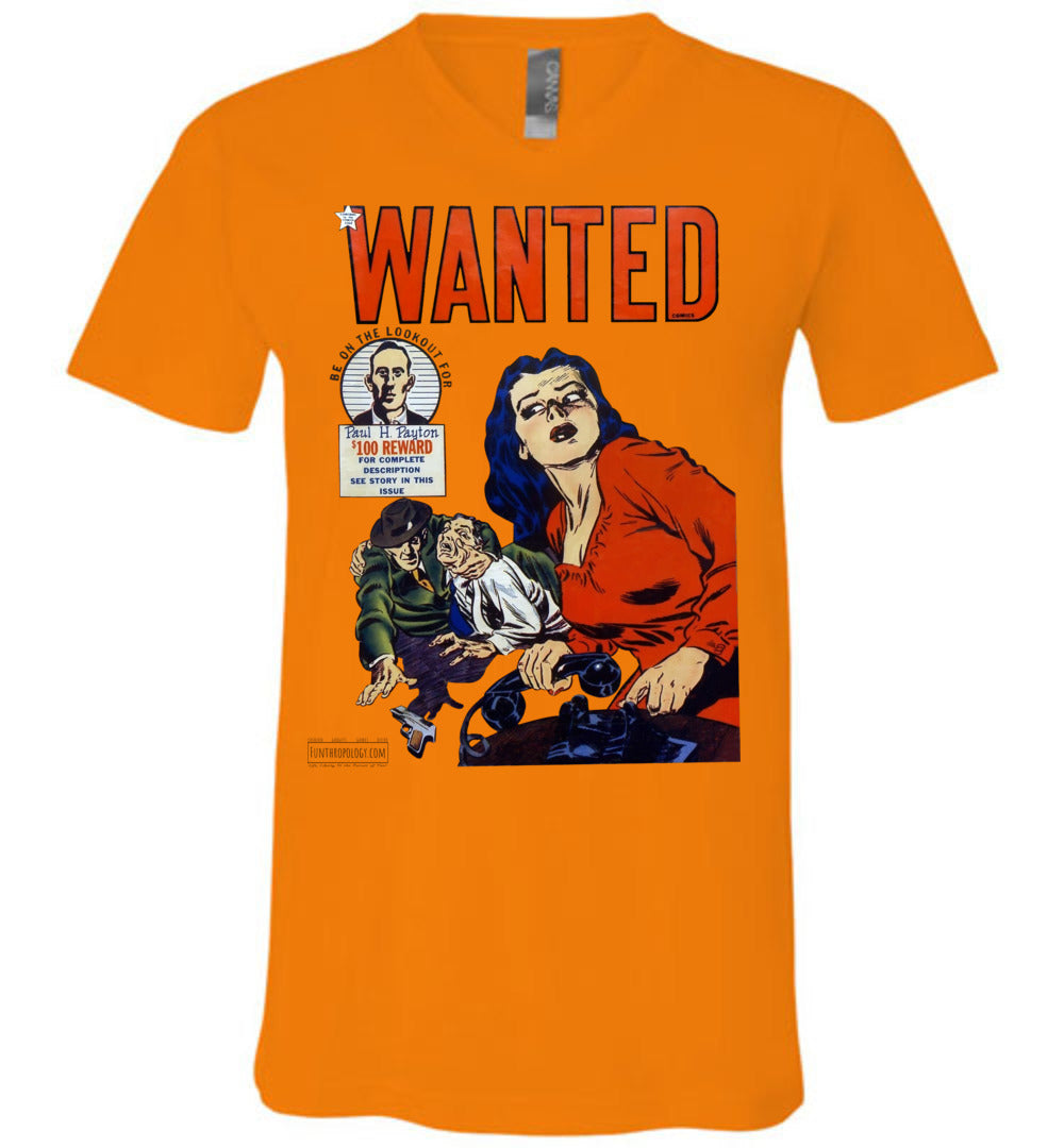Wanted Comics No.28 V-Neck (Unisex, Light Colors)