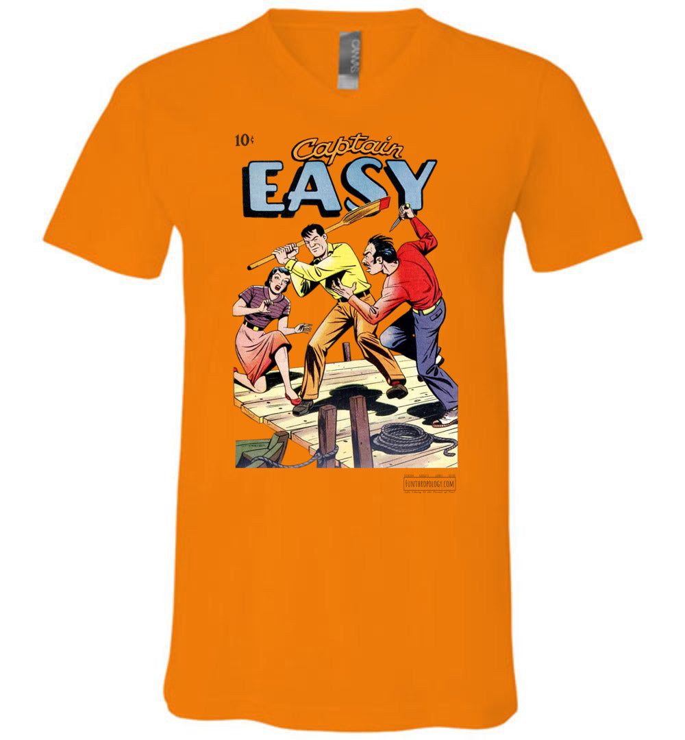 Captain Easy No.15 V-Neck (Unisex, Light Colors)