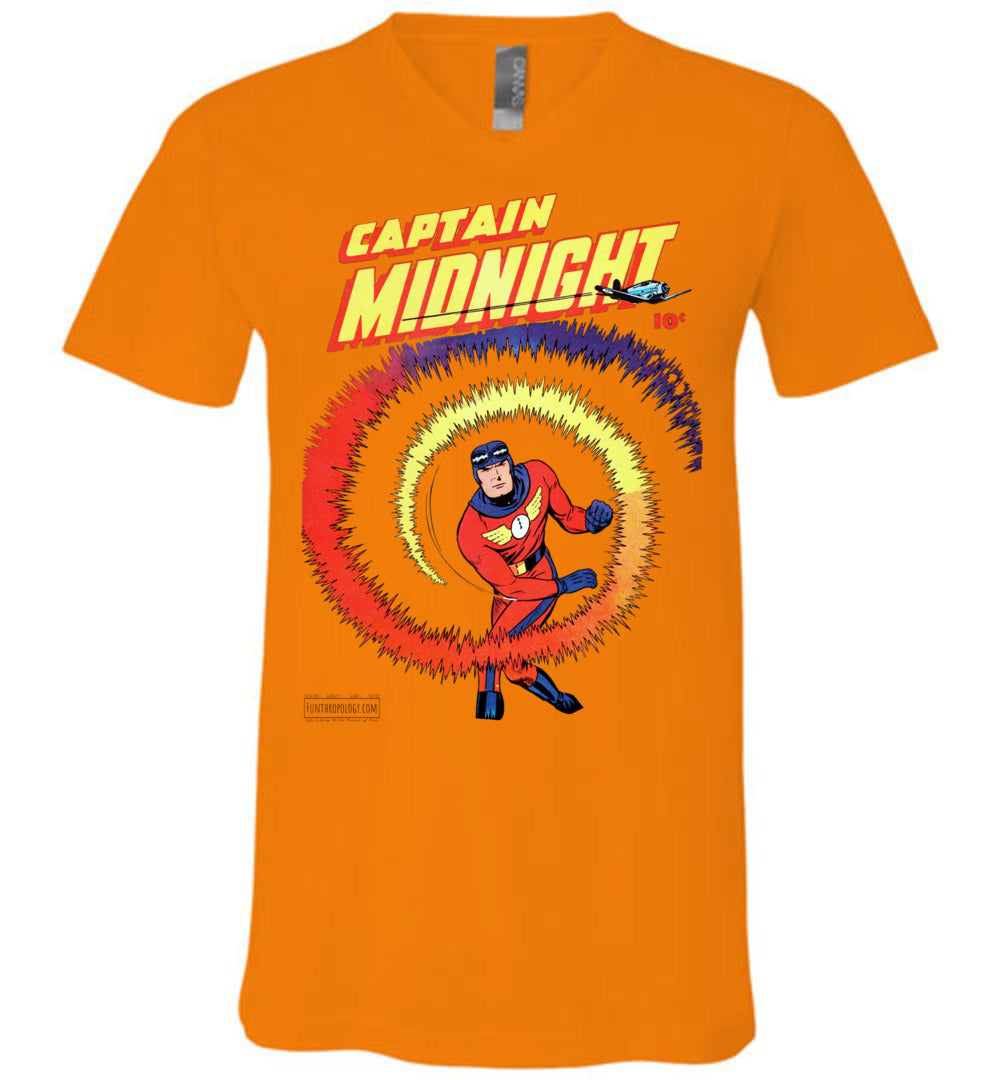 Captain Midnight No.40 V-Neck (Unisex, Light Colors)