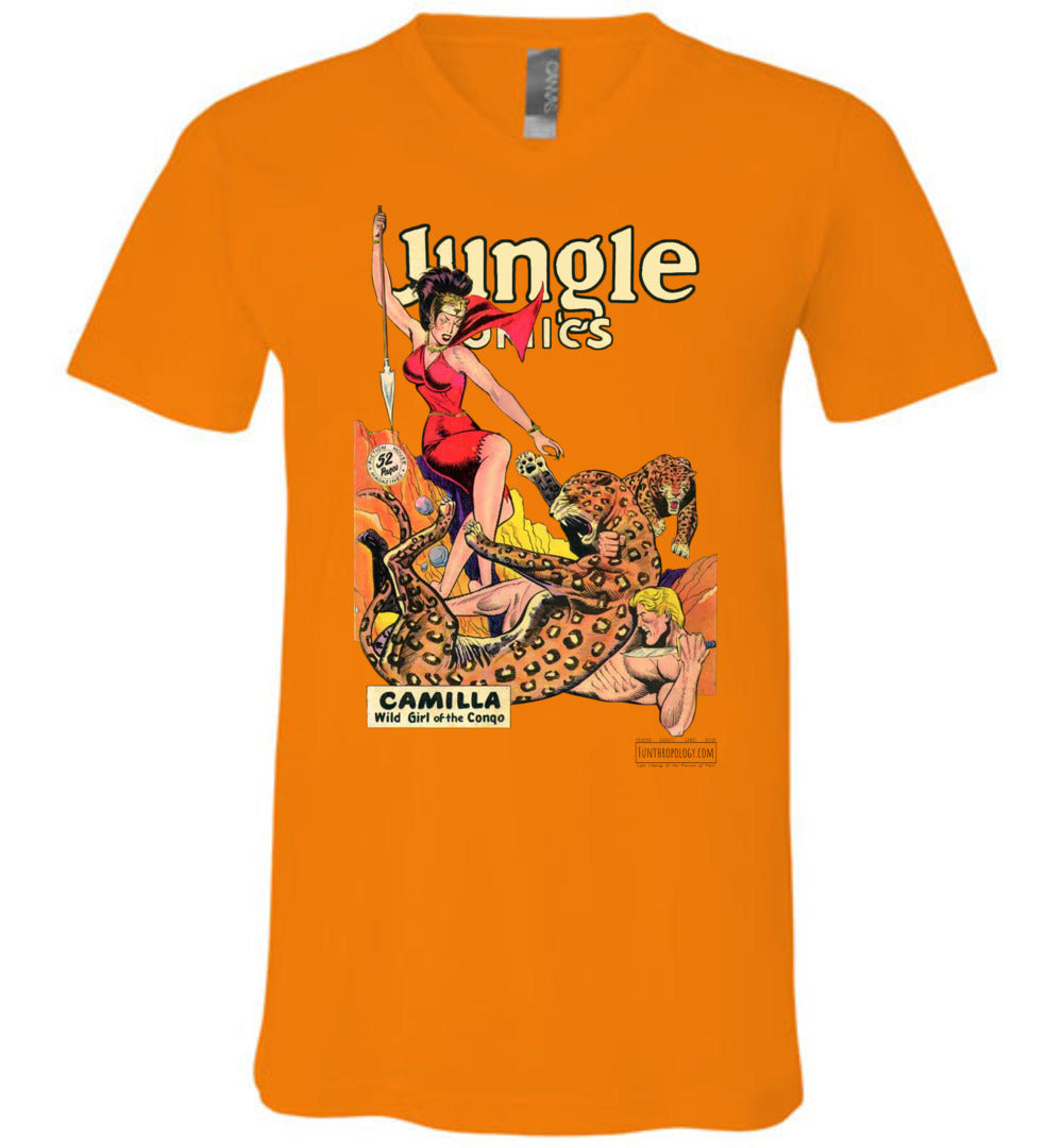 Jungle Comics No.105 V-Neck (Unisex, Light Colors)