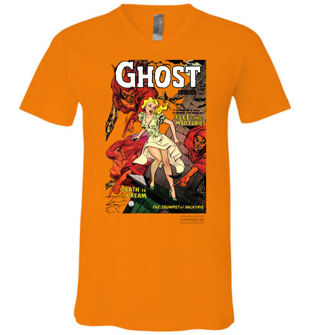 Ghost Comics No.4 V-Neck (Unisex, Light Colors)