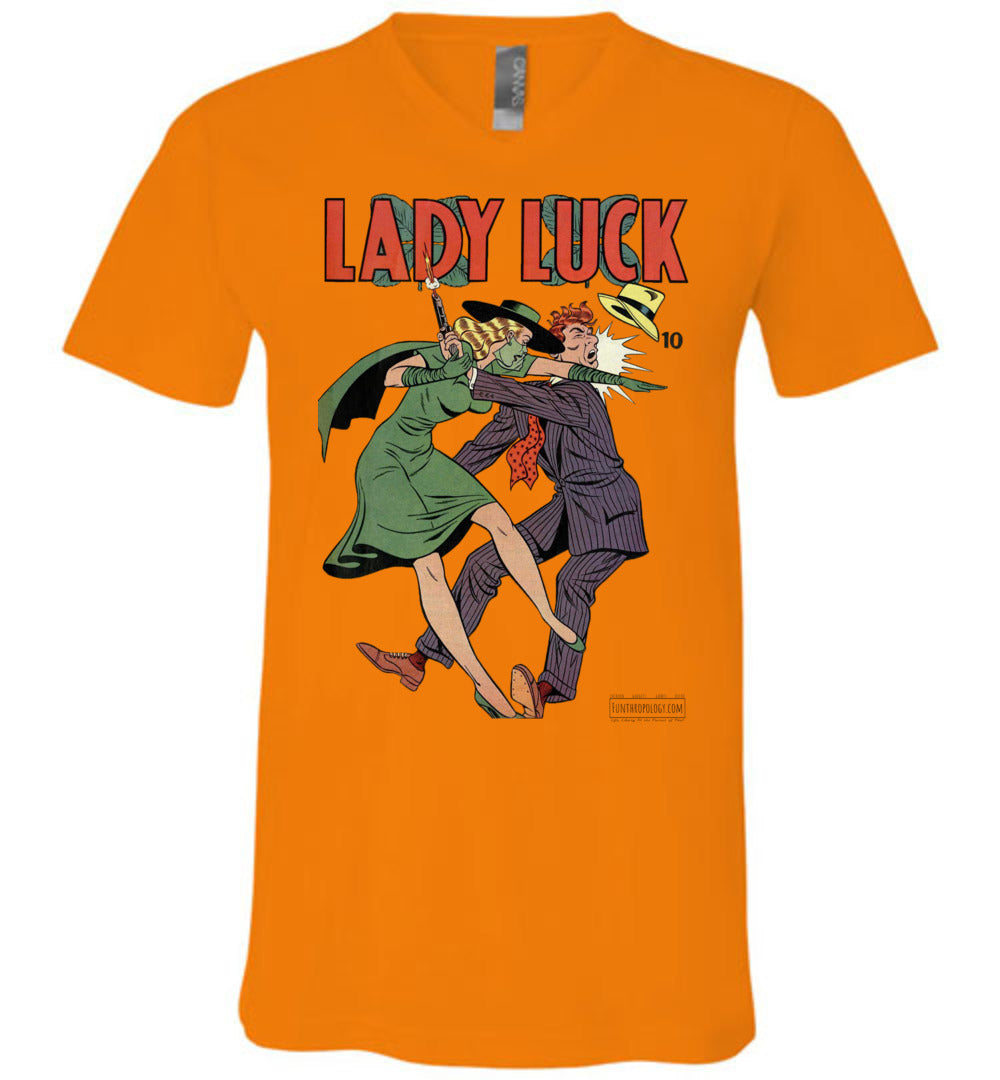 Lady Luck No.88 V-Neck (Unisex, Light Colors)