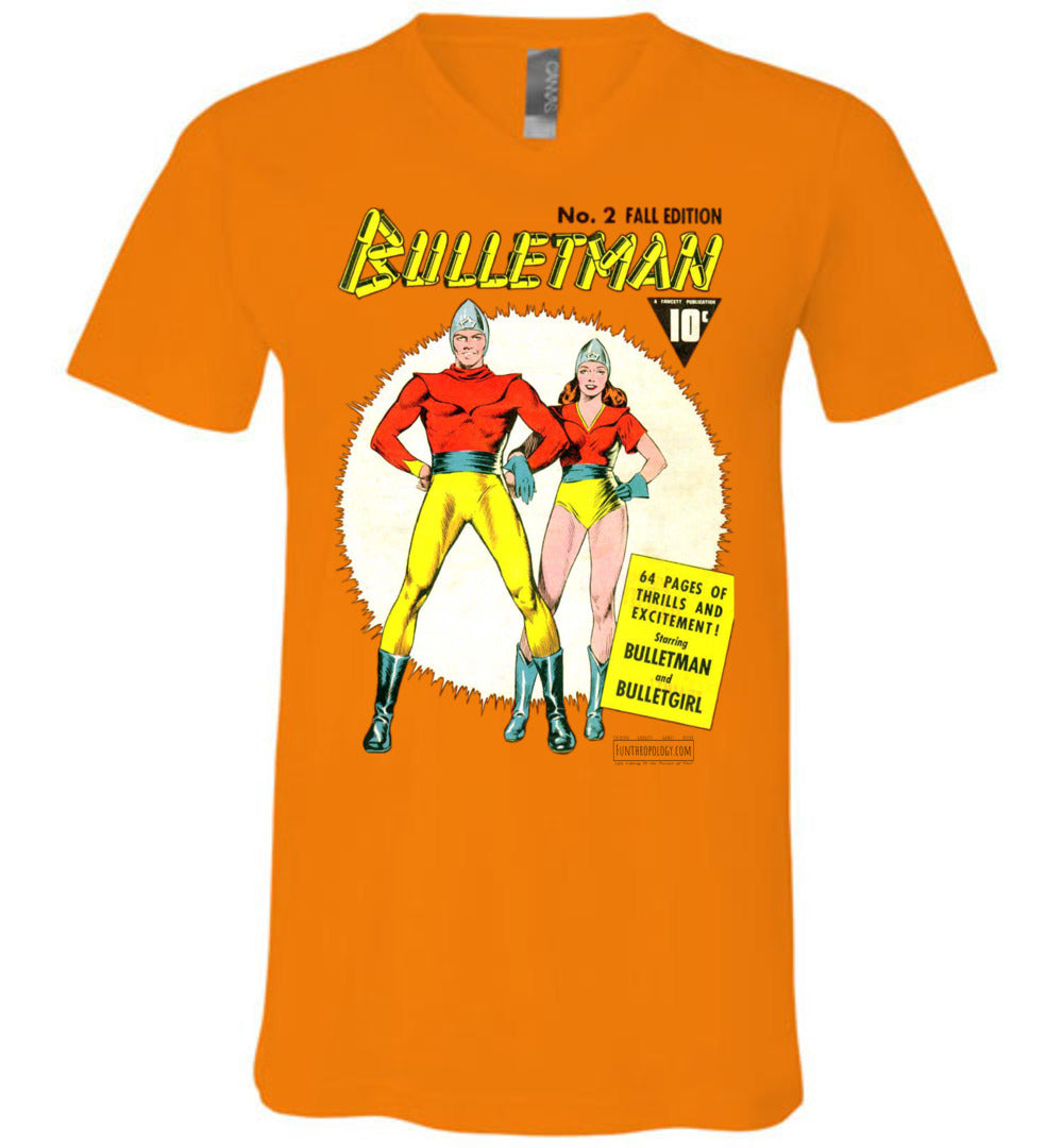 Bulletman No.2 V-Neck (Unisex, Light Colors)
