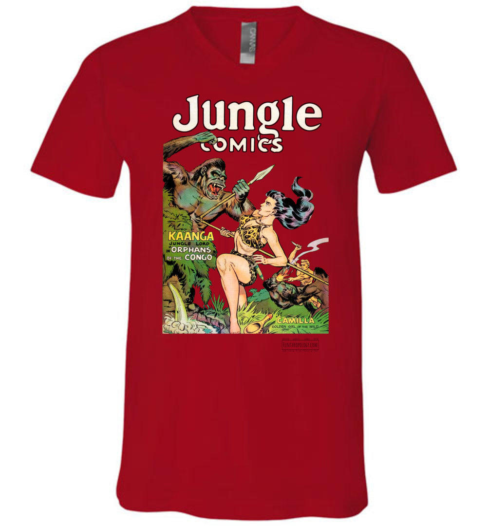 Jungle Comics No.146 V-Neck (Unisex, Light Colors)