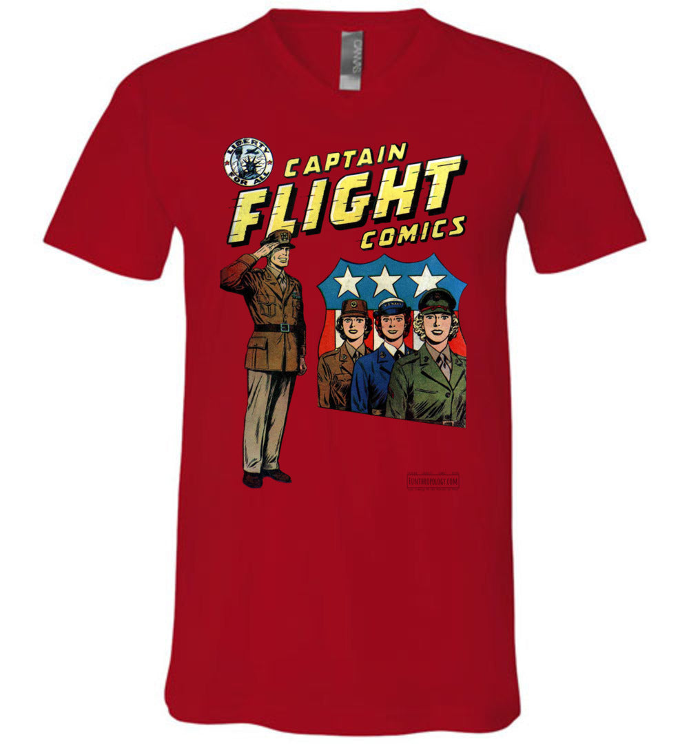 Captain Flight No.4 V-Neck (Unisex, Light Colors)