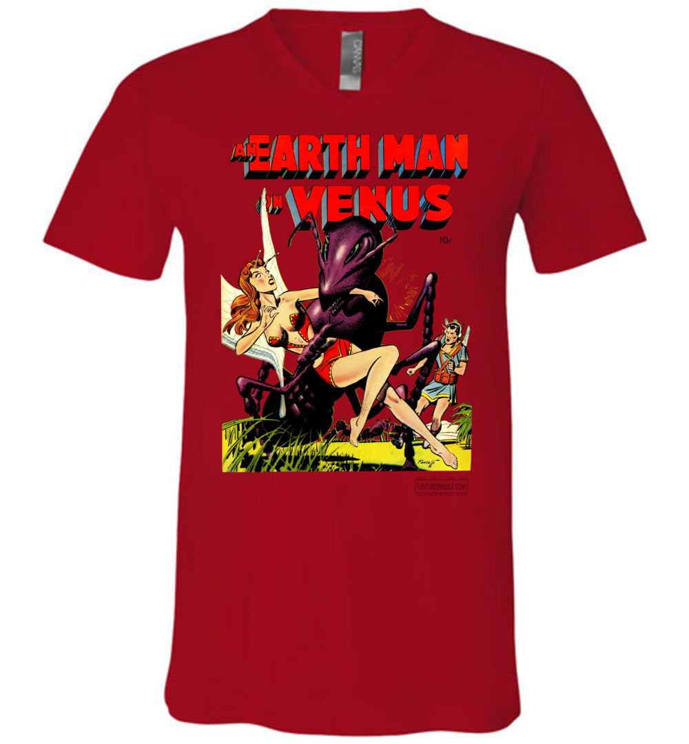 An Earth Man On Venus No.1 V-Neck (Unisex, Light Colors)