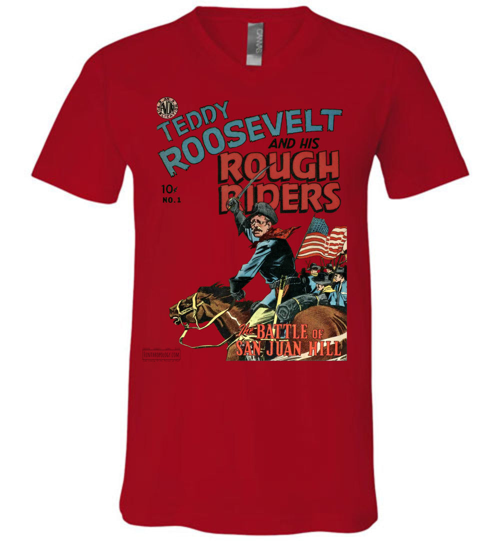 Teddy Roosevelt And His Rough Riders No.1 V-Neck (Unisex, Light Colors)