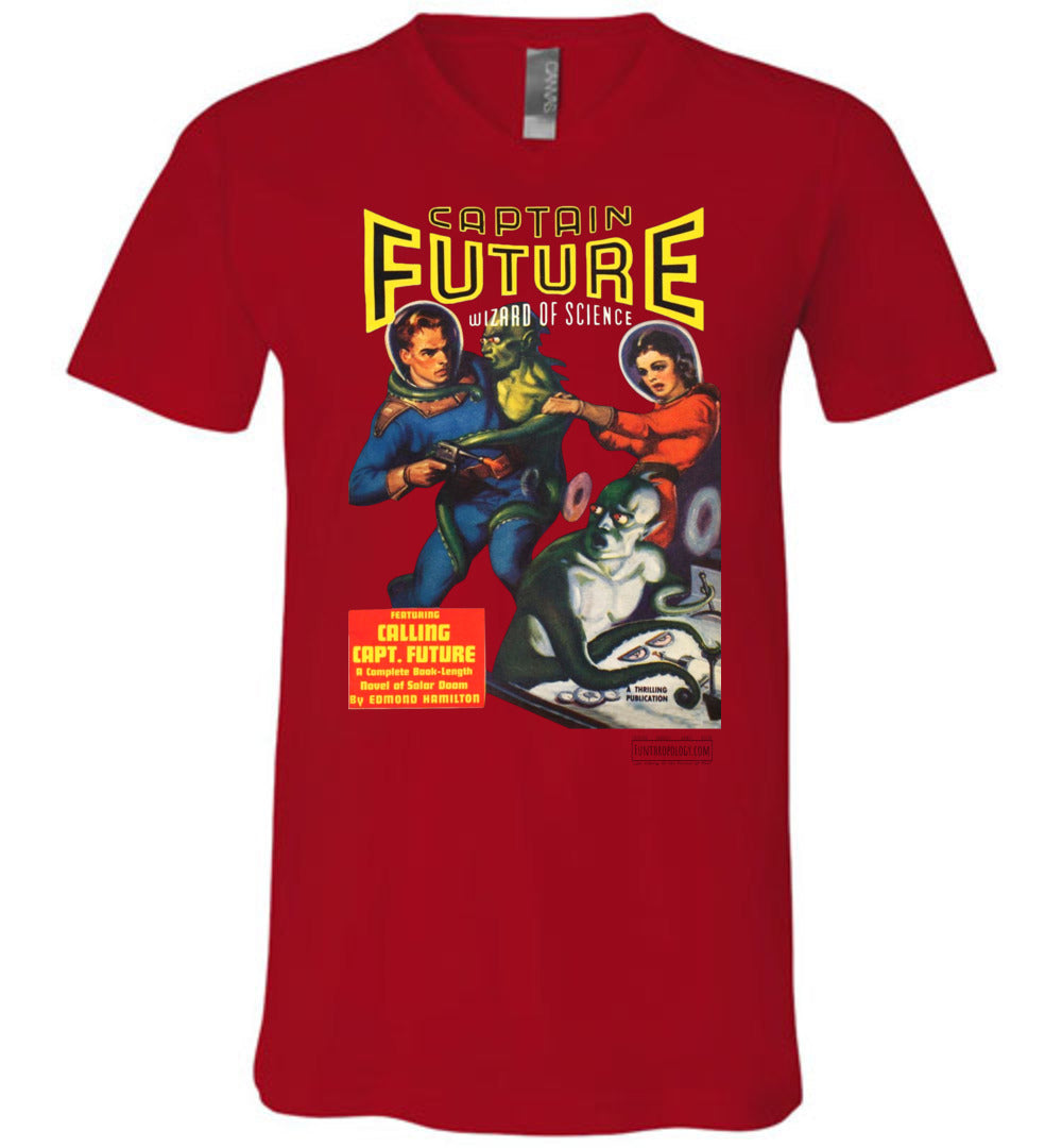 Captain Future No.2 V-Neck (Unisex, Light Colors)