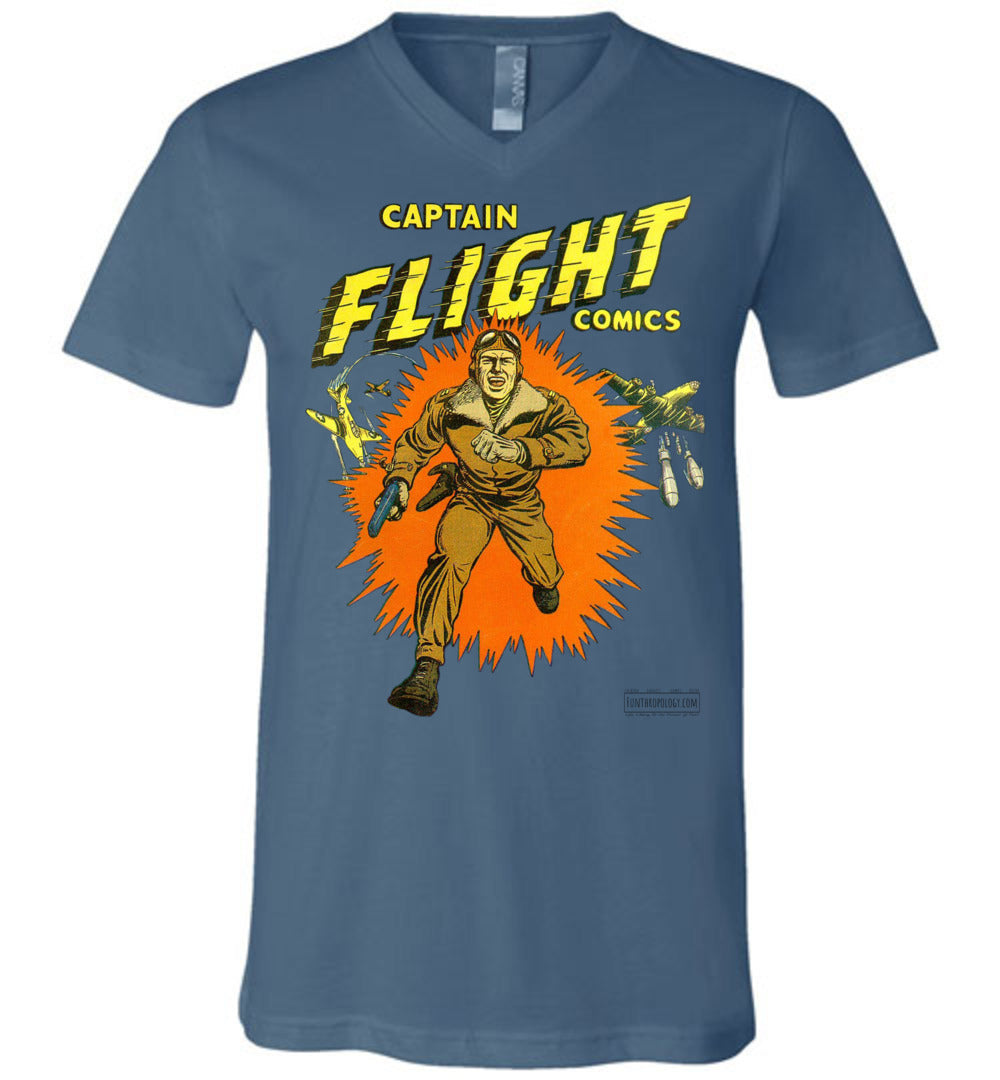Captain Flight No.2 V-Neck (Unisex, Light Colors)