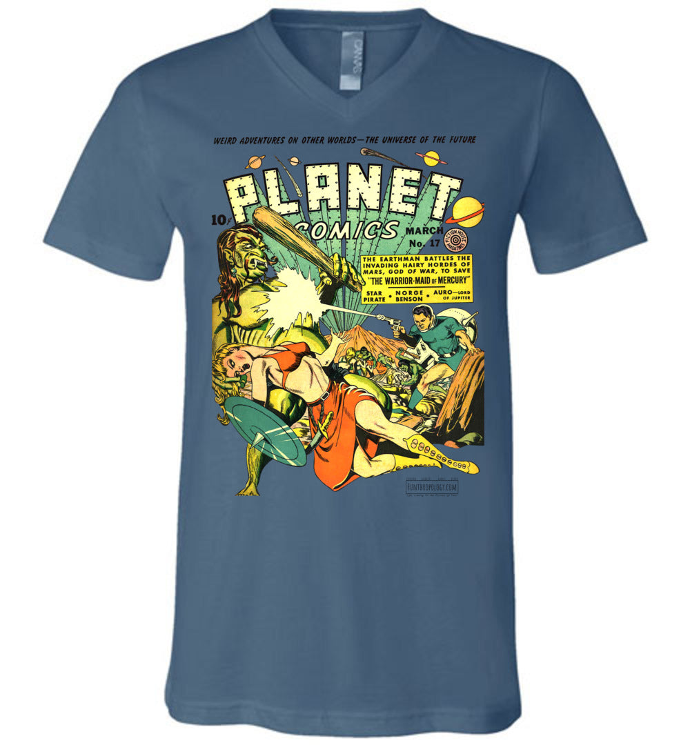 Planet Comics No.17 V-Neck (Unisex, Light Colors)