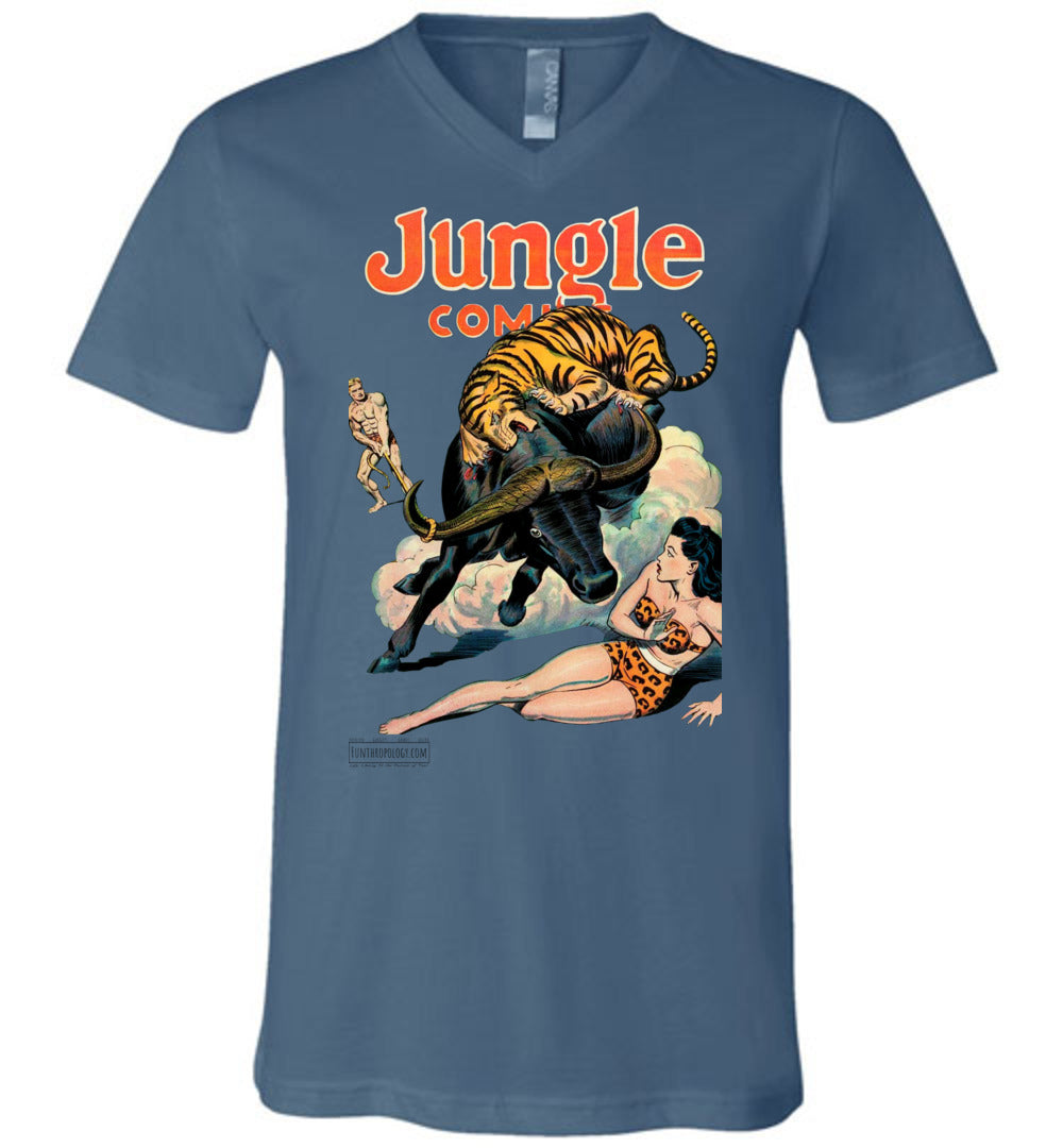 Jungle Comics No.84 V-Neck (Unisex, Light Colors)