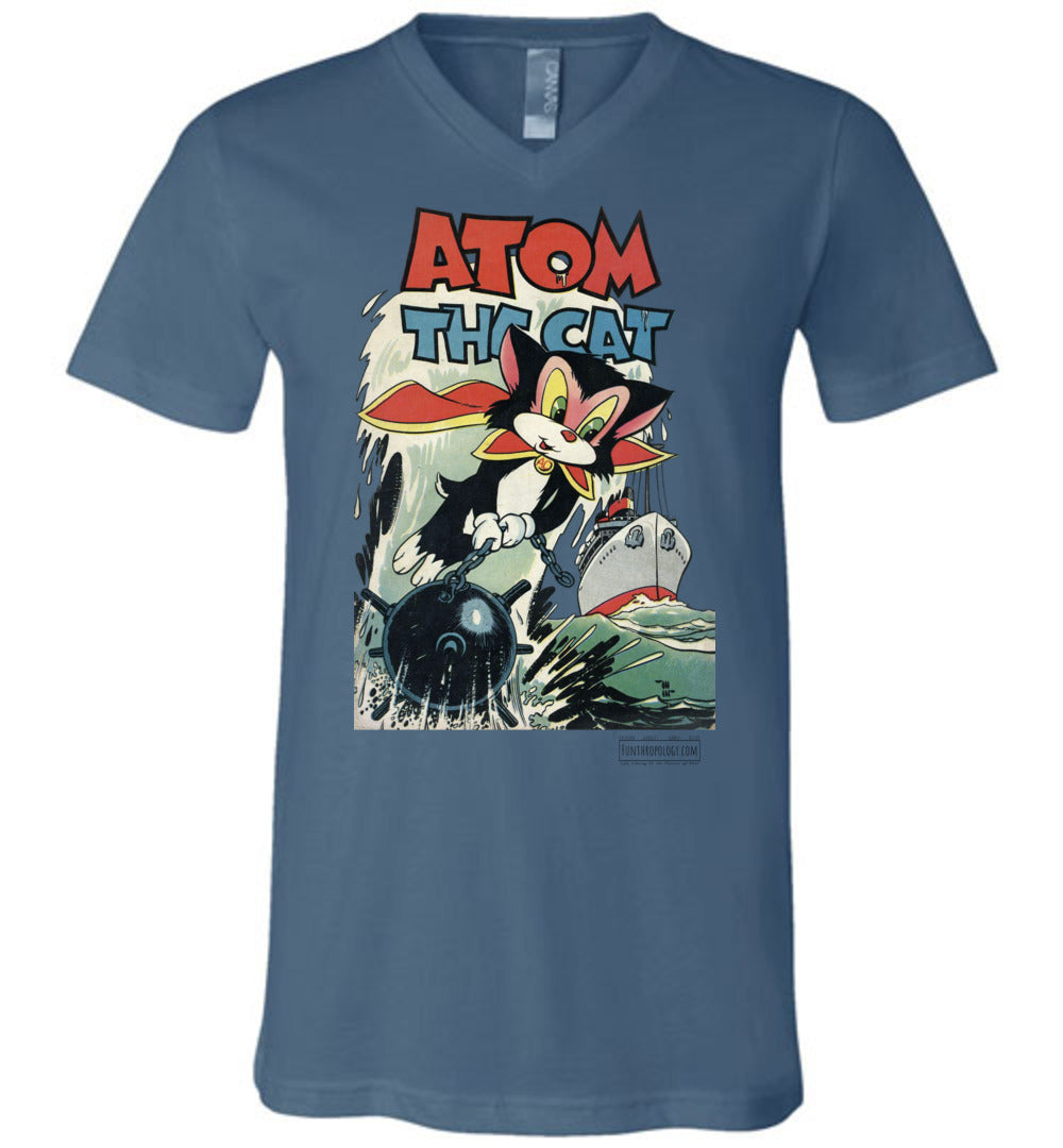 Atom The Cat No.10 V-Neck (Unisex, Light Colors)