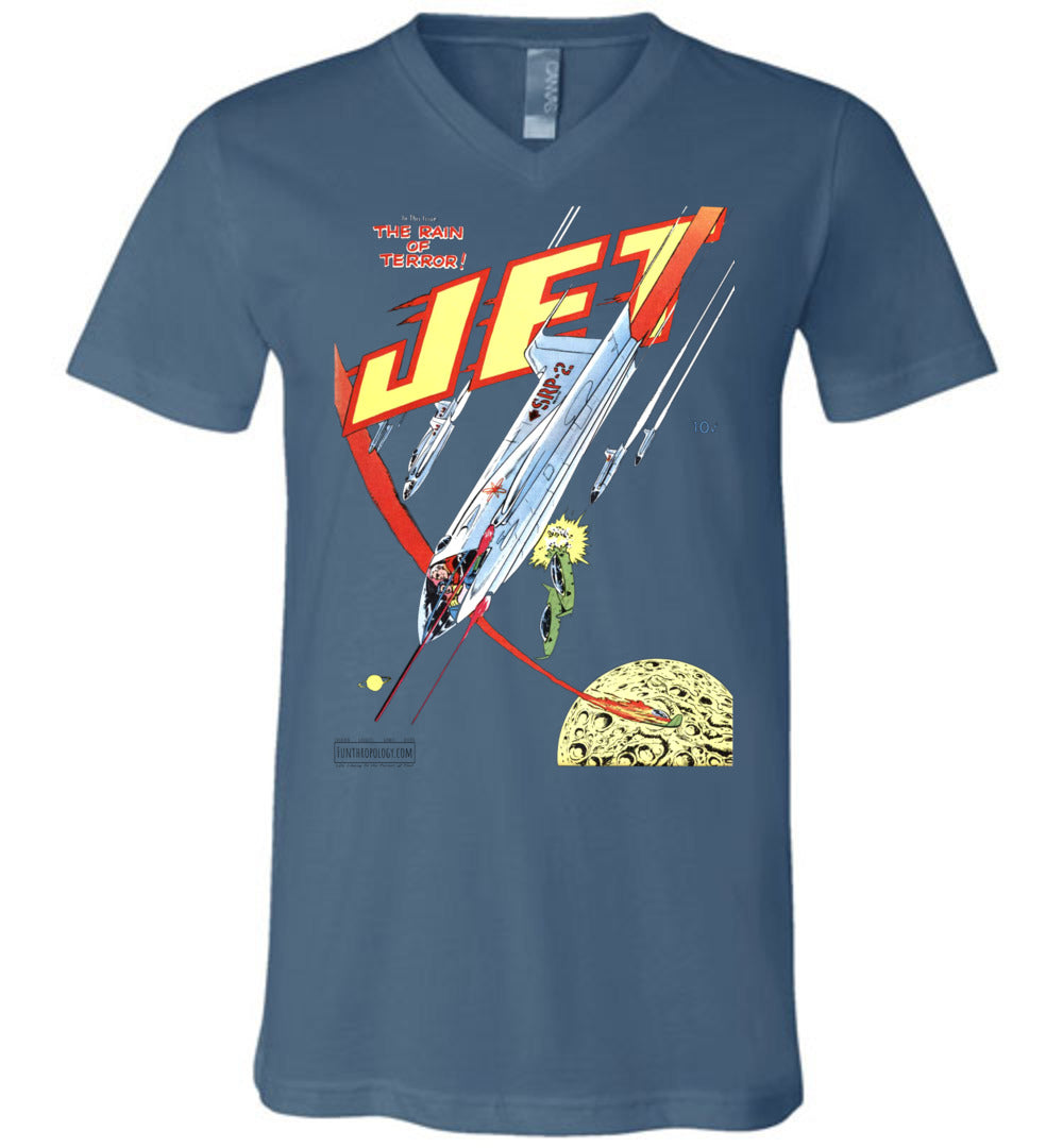 Jet Powers No.4 V-Neck (Unisex, Light Colors)