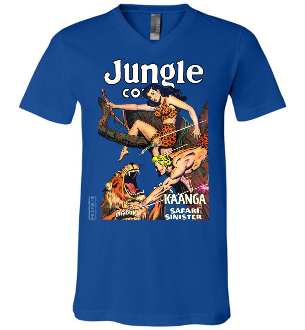 Jungle Comics No.126 V-Neck (Unisex, Dark Colors)