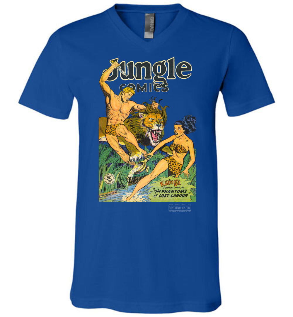 Jungle Comics No.103 V-Neck (Unisex, Dark Colors)