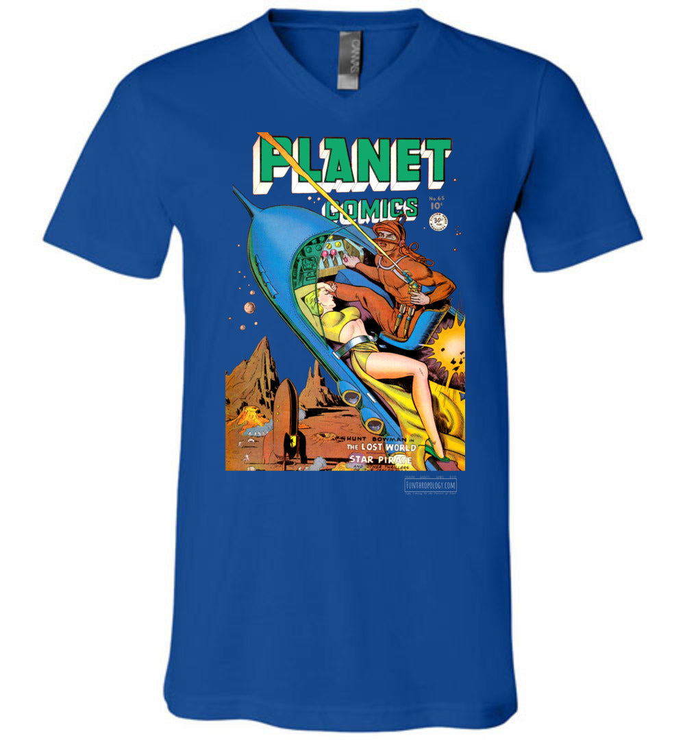 Planet Comics No.65 V-Neck (Unisex, Dark Colors)